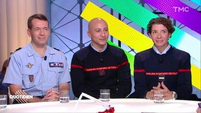 Invités spécial hommage aux pompiers : Gabriel Plus, Malik Berrahou et Laura Manzoni