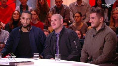 Invités : Spencer Stone, Alek Skarlatos et Anthony Sadler, les « héros du Thalys »