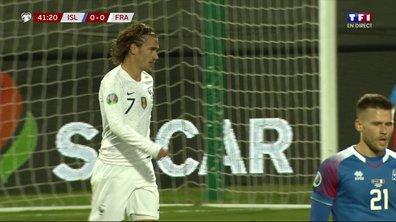 Islande - France (0 - 0) : Voir l'occasion d'Antoine Griezmann en vidéo