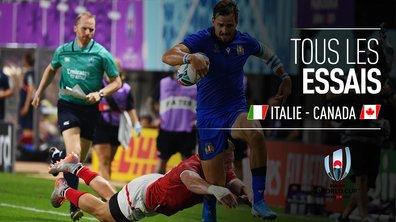 Italie - Canada : Voir tous les essais du match en vidéo