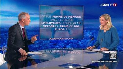J'ai plusieurs employeurs, lequel va me verser l'indemnité inflation de 100 euros ? Le 20H vous répond