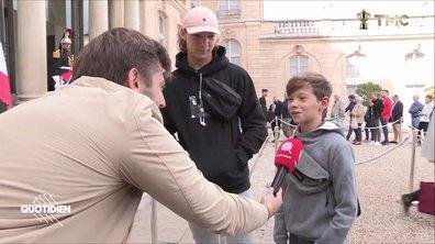 Jacques Chirac : à l'Élysée, même les plus jeunes viennent lui rendre hommage