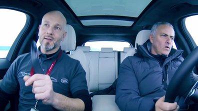 Insolite : José Mourinho drift sur la glace au volant d'une Jaguar F-Pace