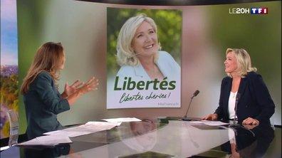 """""""Je serai la présidente de la défense des libertés"""", promet Marine Le Pen"""