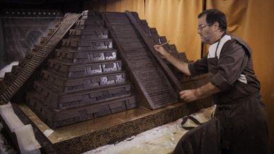 La statue Leonidas au Salon du Chocolat