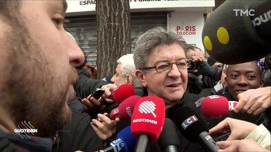 Jean-Luc Mélenchon vs Olivier Faure : une manif, deux ambiances
