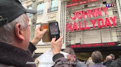 Johnny Hallyday à l'Olympia : ses fans rallument le feu