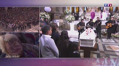"""Hommage à Johnny : ses anciens musiciens jouent """"Je te promets"""" devant le cercueil"""