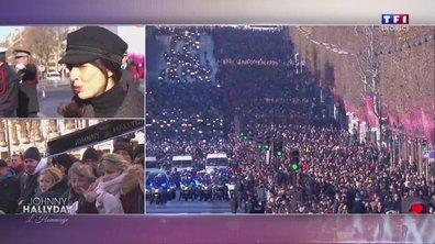 Hommage à Johnny : le convoi funéraire descend les Champs-Elysées