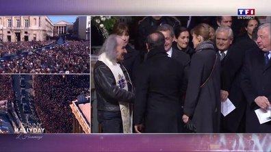 Hommage à Johnny : échange cordial entre Sarkozy et Hollande