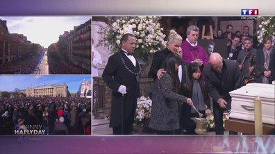 Hommage à Johnny : Laetitia Hallyday et ses filles déposent un baiser sur le cercueil