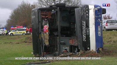 Accident de car scolaire : sept collégiens dans un état grave