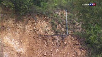 Alpes-Maritimes : un glissement de terrain a isolé les riverains de Sospel