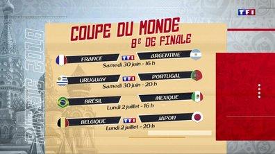 Mondial 2018 : qui vont s'affronter en huitièmes de finale ?