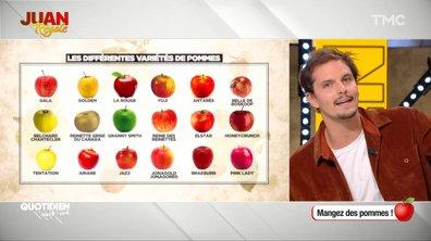 Juan régale : mangez des pommes, mais pas n'importe lesquelles