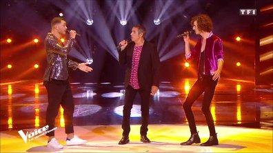 Julien Clerc, Léonard et Pierre Danaë « Quand je joue » pour la demi-finale-
