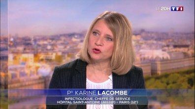 """Karine Lacombe : """"Le Covidplasm est un essai qui va évaluer l'efficacité de la transfusion de plasma hyperémiant à des personnes malades"""""""