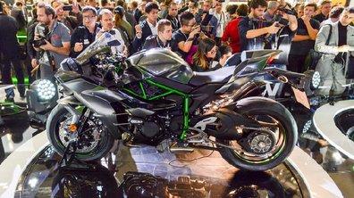 "Intermot 2016 : Kawasaki propose une superbe version ""carbon"" de la H2"