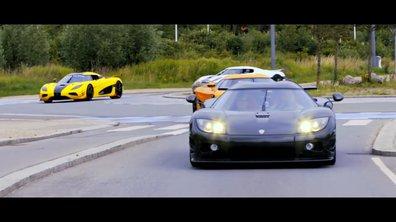 Koenigsegg réunit 15 de ses voitures