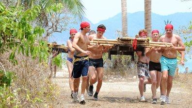 Koh Lanta : l'équipe des hommes en mode préhistorique
