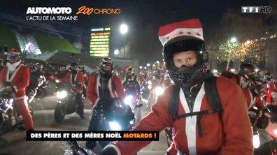 Insolites : 1.000 pères noël à moto dans les rues de Paris !