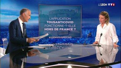 L'appli TousAntiCovid fonctionne-t-elle hors de France ? Le 20H vous répond