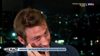 """L'émotion de Maxime Médard : """"Ma fille m'a donné un nouveau souffle"""""""