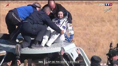 L'équipe russe ayant tourné le premier film dans l'espace de retour sur Terre