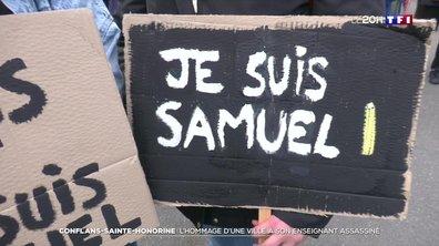 L'hommage de la ville de Conflans-Sainte-Honorine à son enseignant assassiné