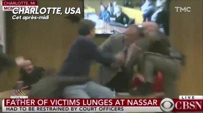 L'image du jour de Julien Bellver : Larry Nassar attaqué en plein procès par le père de trois victimes