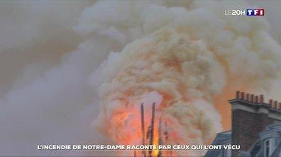 L'incendie de Notre-Dame de Paris raconté par ceux qui l'ont vécu