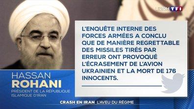 "L'Iran admet avoir abattu ""par erreur"" l'avion ukrainien"