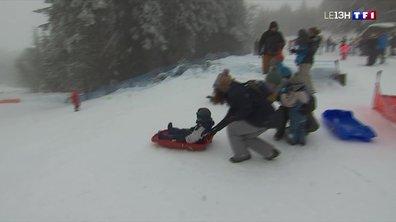 La neige n'a pas eu raison des habitants du Massif central