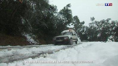 La neige venue d'Espagne touche les Pyrénées-Orientales