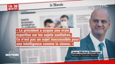 La palme du lèche-bottes revient à Jean-Michel Blanquer