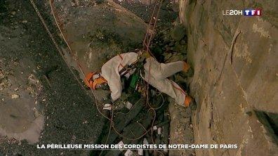 La périlleuse mission des cordistes de Notre-Dame de Paris