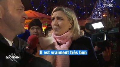 La très spontanée parade de Noël de Marine Le Pen