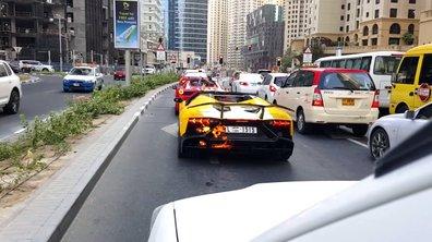 Insolite : pourquoi la Lamborghini Aventador a-t-elle brûlé à Dubaï ?