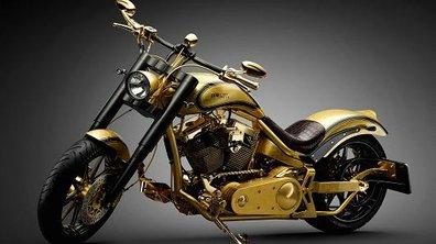 Insolite : un custom recouvert d'or à 612 000 euros