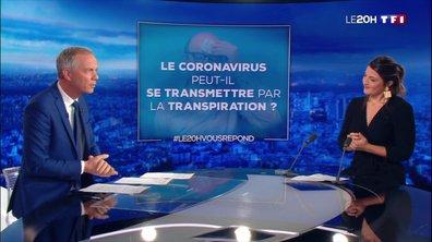 """""""Le 20H vous répond"""" : Le coronavirus peut-il se transmettre par la transpiration ?"""