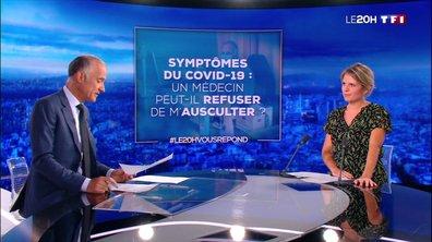 """""""Le 20H vous répond"""" : un médecin peut-il refuser de m'ausculter si je présente les symptômes du coronavirus ?"""