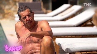Le Canap : Michel Cymès tente la pose James Bond avec Adriana Karembeu