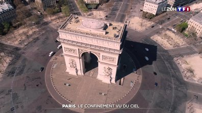 Le confinement de Paris vu du ciel