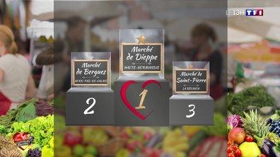 """Le marché de Dieppe, grand gagnant de l'opération """"Coups de cœur pour nos marchés"""""""