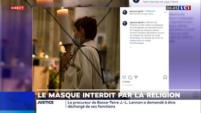Le masque interdit par la religion