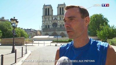 Le parvis de Notre-Dame de Paris rouvre au public