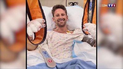 Le pilote de F1 Romain Grosjean donne des nouvelles après son accident
