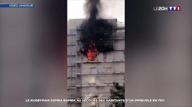 Le rugbyman Demba Bamba au secours des habitants d'un immeuble en feu