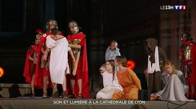 Le show lumineux de la cathédrale Saint-Jean à Lyon