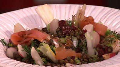 Salade printanière de lentilles